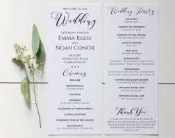 wedding ceremony bulletin template wedding program endo re enhance dental co