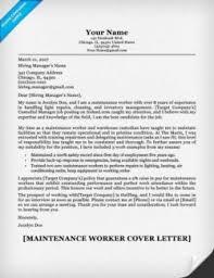 work resume cover letter sample maintenance worker resume sample resume companion