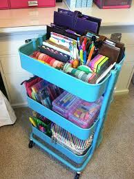ikea raskog cart organization nicely organised really want one but i think my one year old will