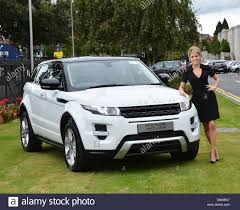 new land rover evoque amy huberman receives the keys to a new range rover evoque as she