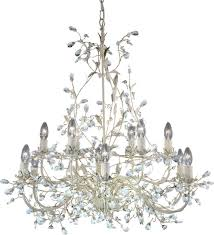 12 Bulb Chandelier Searchlight 24912 12cr Almandite Cream Gold Crystal 12 Lamp Chandelier