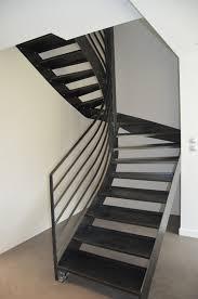 Garde Corps Loft Fabrication Escalier Metal Bois Escalier Moderne En Bretagne