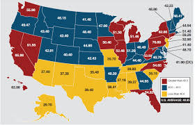 Southern States Of America Map gasoline taxes and the price at the pump energy factor