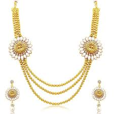 girls gold necklace images Youbella jewellery gold plated traditional laxmi necklace set jpg