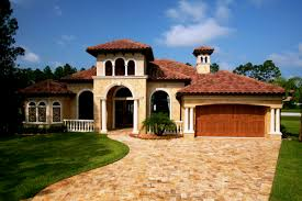 exterior home design one story homey tuscan home design style one story homes house plans