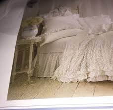 e vintage white simply shabby chic bed skirt dust ruffle twin