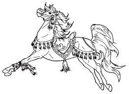 carousel horse colouring kids carousel horse colouring