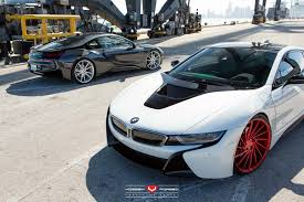 Bmw I8 On Rims - double bmw i8 at port of miami by vossen wheels