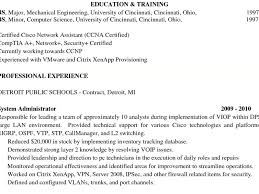 Sample Resume For Ccna Certified by Sample Resume Cisco Network Engineer