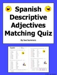 spanish clothing u0026 colors worksheet noun and adjective agreement