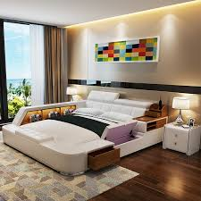 Bed Frame Picture More Detailed Picture About Modern Leather - Bedroom furniture sets queen size