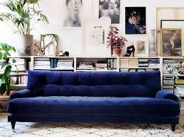 living room blue tufted sofa elegant velvet sofas centsational