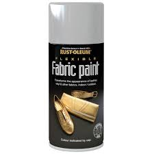 rust oleum flexible fabric paint silver spray 150ml at