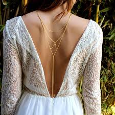 back necklace gold images Summer tassel crystal necklace bikini back chain beach crossover jpg