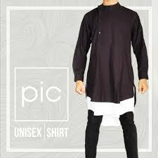 baju koko baju koko pria wanita gamis unisex shirt hitam limatoko