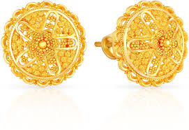 malabar earrings malabar gold and diamonds andaaaaabjxz 22 k gold stud earring in