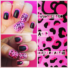 throwback mani neon hello kitty leopard bsugarcoated