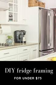how to build a cabinet around a refrigerator how to frame a refrigerator that is wide for opening