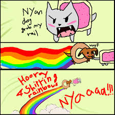 Nyan Cat Meme - nyan cat and dog grab my meme by drspencerreidbietch on deviantart