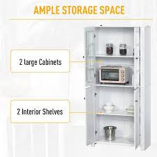 horizontal kitchen storage cabinets homcom contemporary kitchen pantry freestanding storage