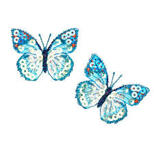 small butterfly iron on sequin applique blue discount designer