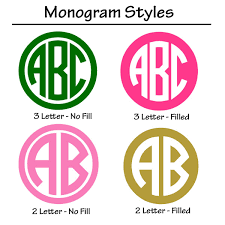 3 initial monogram fonts circle car monogram solid color potty concepts