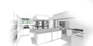 commercial kitchen sketchup interior design concept rendering