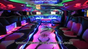 limousine hummer inside pink hummer h2 diamond limo ny youtube