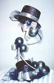 hat table decorations fig 1 top hat centerpiece constructed on