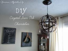 Orb Light Fixture by Diy Crystal Iron Orb Chandelier