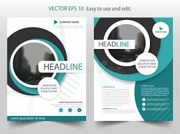 circle layout vector blue circle brochure annual report flyer design template vector