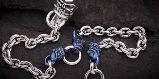 titanium chain link necklace images Titanium wallet chains jpg