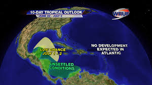 Florida Weather Map 10 Day Tropical Outlook For Florida 6 21 Wruf Weather