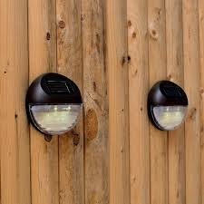 Outdoor Solar Lights For Fence Set Of 4 Bright Brown Solar Fence Lights Great Loversiq
