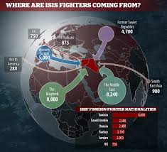 map shows more than 31 000 from 86 countries have u0027joined isis in