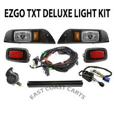 ezgo txt golf cart deluxe street legal light kit plug u0026 go lights
