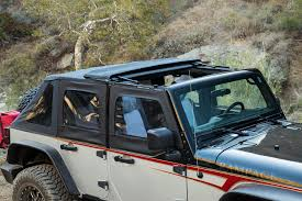 jeep frameless soft top rampage products 139835 trailview soft top for 07 17 jeep