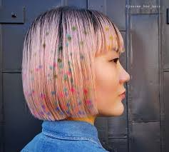 polka dot hair hair stencilling trend 20 stenciled hairstyles to embrace now