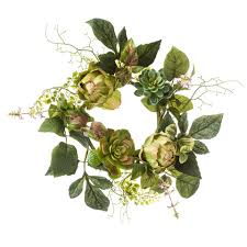 Candle Rings Decorative Candle Rings 6 Succulent Artichoke Ring