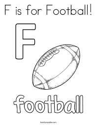 f is for football coloring page twisty noodle
