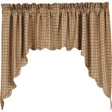 millsboro scalloped lined swag curtains swag curtains window