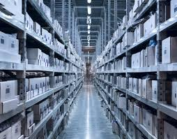 Warehouse Interior by New And Modern Warehouse U2014 Stock Photo Maxoidos 12643680
