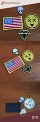 Iron On American Flag Usa Flag Alien Diamond And Emoji Iron On Patches