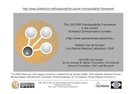 http www current the oai ore interoperability framework in the context of the current