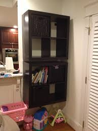 how to mount a safe floating 2 x 4 expedit shelf ikea hackers