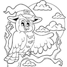 halloween owl coloring pages funycoloring