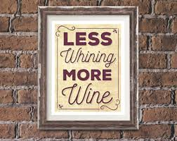 more wine less whine etsy