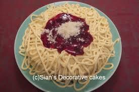 decorative cakes plate of spaghetti cake sian s decorative cakes