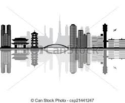 drawing of tokyo japan city skyline csp21441247 search clip art