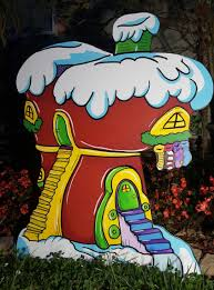 grinch yard art whoville shop 1 hand painted christmas decoration